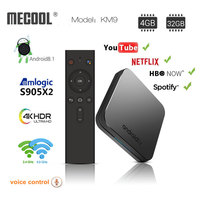 MECOOL KM9 ATV Android 8.1 Smart TV BOX S905X2 4GB DDR4 RAM 32GB ROM Set Top Box 4K 3D 2.4G/5G WiFi media player Android TV Box