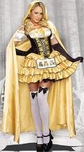 Cadılar bayramı Deluxe Seksi Goldilocks Kostüm Masal Hikaye Kitabı Goldilocks ve Ayı Kıyafet Fantasia Cosplay süslü elbise