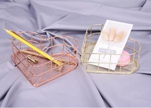 Image 4 - Panier de rangement en fer forgé doré