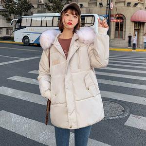 Image 5 - PinkyIsblack Winter Jacket Women 2020 New Fashion Slim Female Winter Coat Thicken Parka Down Cotton Clothing Fake fox fur collar