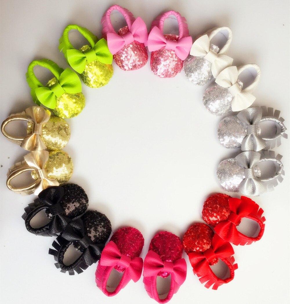 Nieuwe 8-Colors Kwastje Lederen Baby Schoenen Bling Mocassins Baby Peuter Schoenen Unisex Pasgeboren Baby Schoenen Babyschoenen gratis verzending