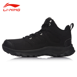 Li-Ning Men Winter Thicken Walking Jogging Shoes WARM SHELL Technology Anti-Slip Sneakers LiNing LN Cozy Sports Shoes AGCM189