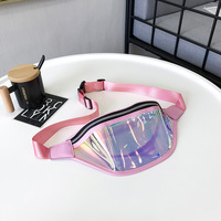 2019 New Ins Hot Laser PU Men Women Waist Belts Pouch Packs Phone Bags Sport Running Case Carrying For IPhone Huawei Xiaomi