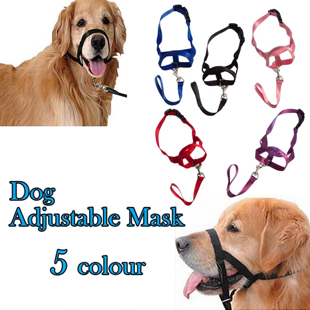 Geen Bark Bitting Verstelbare Nylon Hond Huisdier Veiligheid Mond Cover Mondstuk Anti Bite Chew Zwart Quick Fit Verstelbaar Gratis verzending