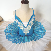 2017 New Hot Sale Adult Paillette Tutu Skirts Women Professional Ballet Tutus Swan Lake Ballet For