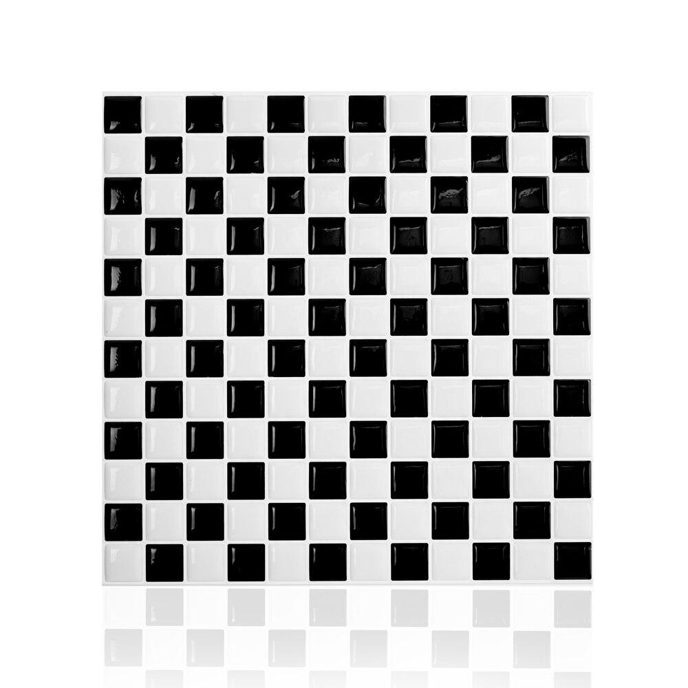 ჱPeel and Stick Wall Tiles 10x10 Wood Adhesive Backsplash Tile for ...