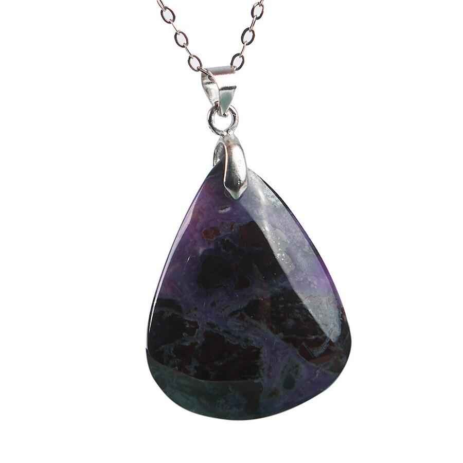 LiZiFang Precious Black Natural Obsidian Gemstone Ox Shape Women Men Necklace Pendant