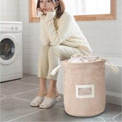 Túi giặt Giỏ Nhật Bản-phong cách Tự Nhiên Đay Vải Bẩn Thu Thập Túi Vải Lưu Trữ Có Thể Gập Lại Tổ Chức Lưu Trữ Hộp