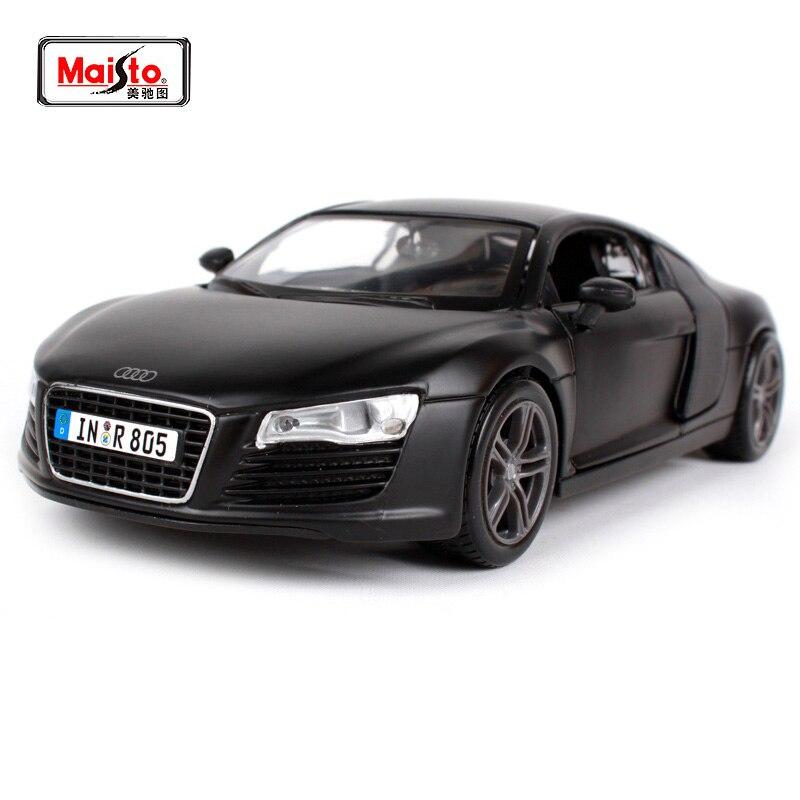Maisto 1:24 Audi R8 Sports Car Diecast Model Car Toy New In Box Free Shipping 31281 ak ak56070 2 ch audi r8 roadster 1 18 r c car toy orange