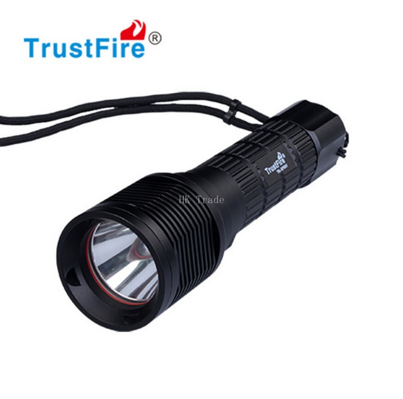 Waterproof TrustFire DF007 Diving Flashlight Cree XML-2 Magnetron Switch Underwater LED light without battery waterproof df007 diving flashlight xml 2 magnetron switch underwater led light without battery