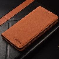 for Xiaomi Pocophone F1 case Flip Matte Genuine Leather Soft TPU Back Cover for pocophone f1 Phone Case