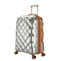 20'24'29'Women Trolley Suitcase Universal Wheel Suitcase Valise enfant Ultra Light Boarding Case Travel Luggage Lingge Pattern