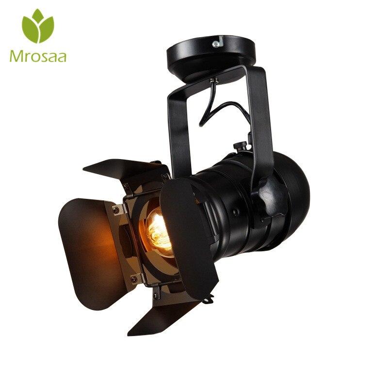 Retro E27 Track Light Spotlights Minimalist Led Ceiling: Aliexpress.com : Buy 1 Pcs Mrosaa Retro Minimalist LED