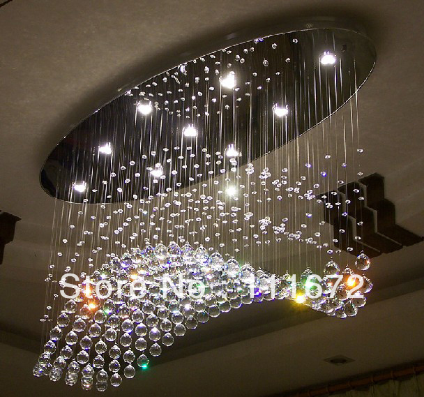 Oval design modern chandelier crystal lamp ac110v 220v flush led oval design modern chandelier crystal lamp ac110v 220v flush led living room lights in chandeliers from lights lighting on aliexpress alibaba group aloadofball Image collections