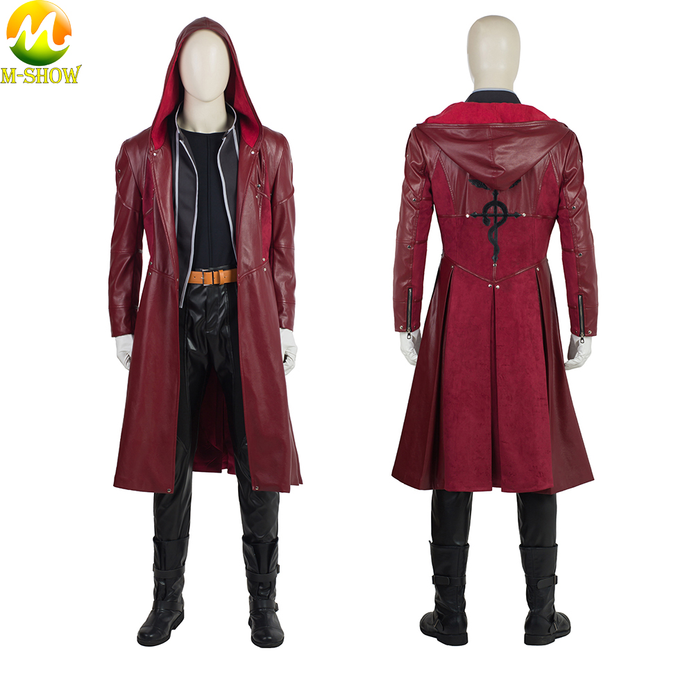 Anime Fullmetal Alchemist Cosplay Costume Edward Elric Cosplay Costume Halloween Cosplay Full Set For Men Custom Made