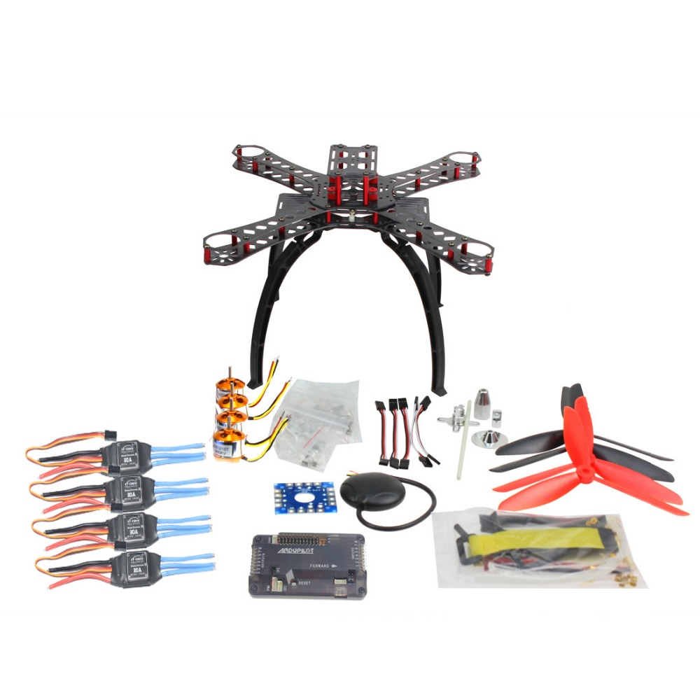 DIY RC Drone Multicopter FPV APM2.8 GPS Drone X4M310L Fiberglass Frame Kit 1400KV Motor 30A ESC Propeller F14891 A