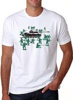 Little Green Army Men T Shirt Funny Graphic Shirts T Shirt Mens Fashion Men Summer Cotton