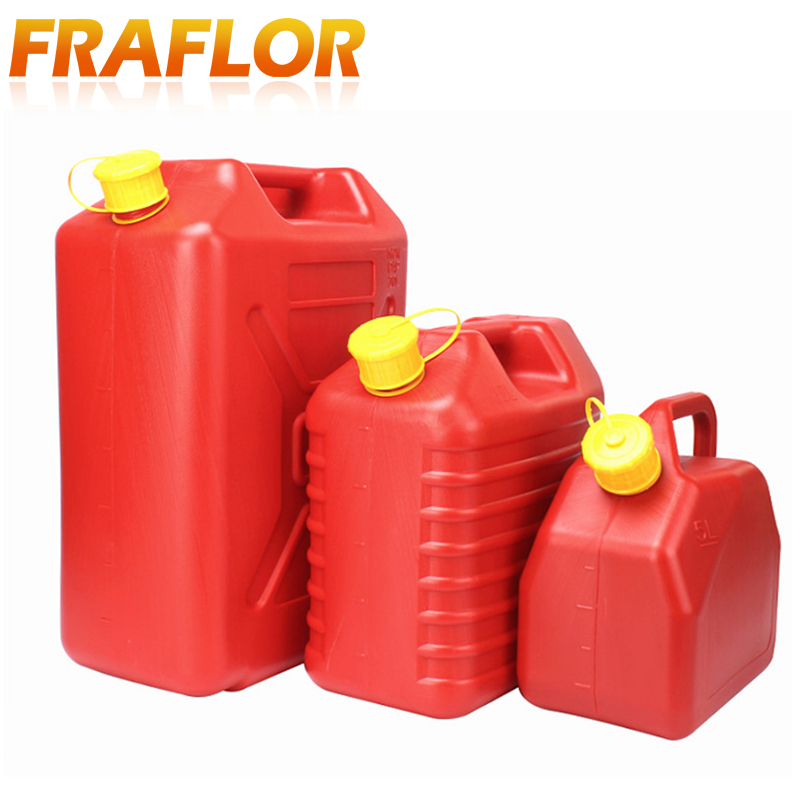 5l 10l Fuel Tank Jerrycan Water Tank Oil Gasoline Diesel Storage Can Spare Tank Plastic Petrol Barrel Car Motorcycle Truck