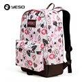 Yeso escola marca mochila sacos de mulheres 2017 primavera moda casual sacos de escola para adolescentes estilo college mulheres oxford mochila