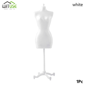 100% NEW 1PCS Baby's Girls Fantasy Doll Display Gown Dress Form Clothes Mannequin Model Stand Rack Holder White Accessories(China)