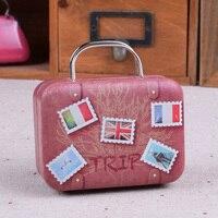 1pc Creative Mini European Style Small House Candy Storage Box Wedding Favor Tin Box Zakka Cable