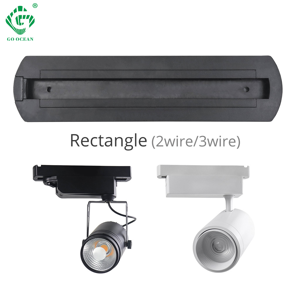 New Track Lights Box Rail Lighting Connector Accessories lamp Ceiling  2 Wire 3 LED Spot light Fitting 10PCS/Lot