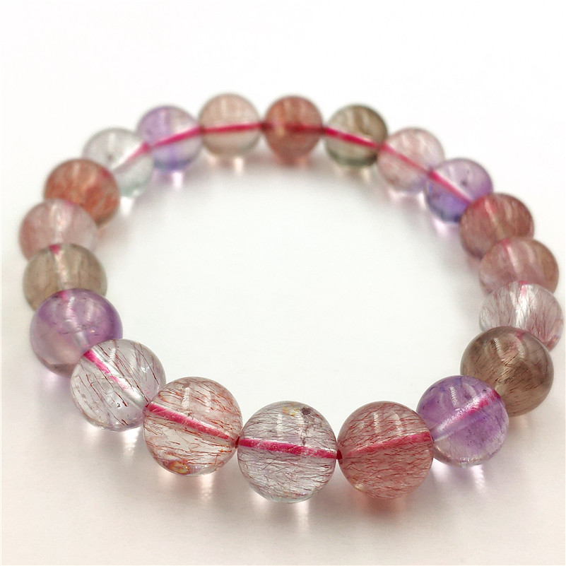 10mm Natural Super 7 Melody Quartz Fashion Bracelet Women Anniversary Love Gift Crystal Round Beads Charms Jewelry Drop Shipping10mm Natural Super 7 Melody Quartz Fashion Bracelet Women Anniversary Love Gift Crystal Round Beads Charms Jewelry Drop Shipping