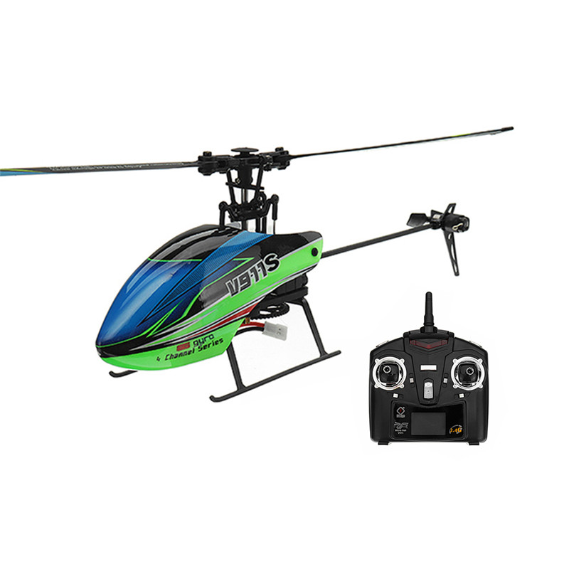 RC Helicopter V911S Remote-Control-Toys RTF Flybarless Wltoys Gyro 2 Mode 4CH For Kids