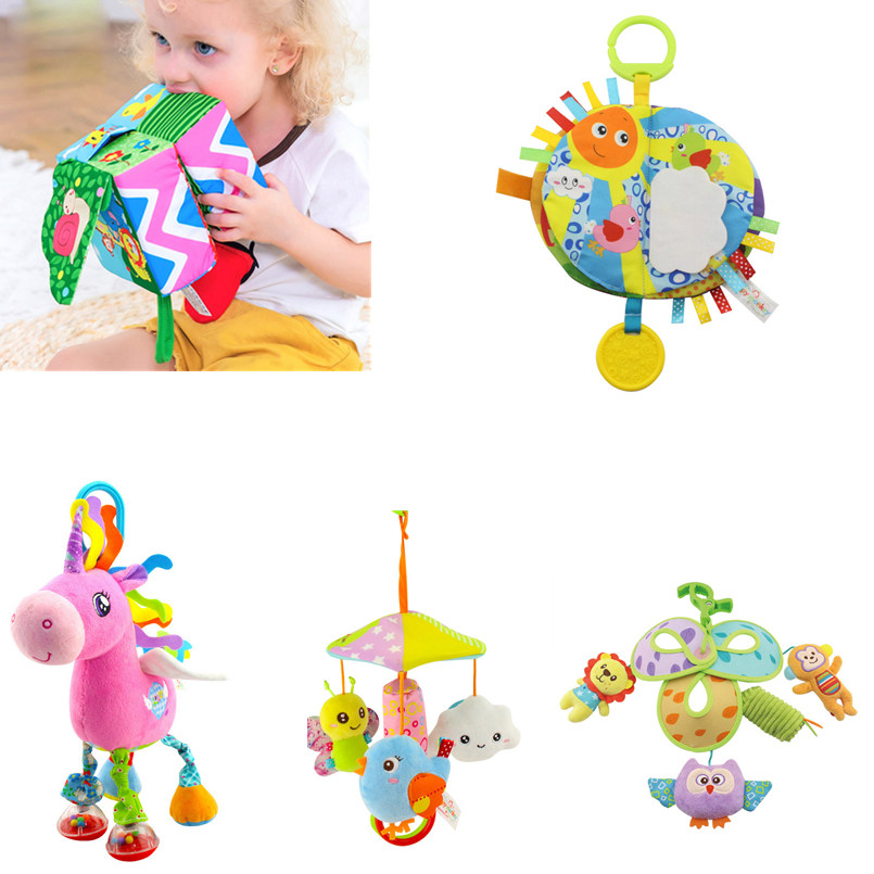 Infant Baby Toys 0-12 Months Rattle Stroller Bed Bell Soft Crib Newborn Baby Mobile Toy For Toddler Plush Musical Doll