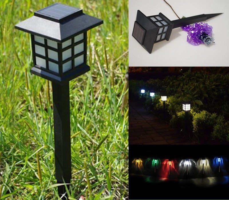 Small Decorative Spotlight: Solar Lamp LED Yard Lawn Wall Light Path Outdoor Spotlight