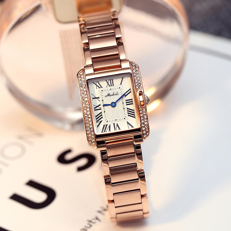 Rose Gold/Silver Fashion Watch Women Watches Stainless Steel Ladies Diamond Wrist Watch For Woman 2018 montres femme Hot Sale fashion daisies flower rose gold bracelet wrist watch women girl gift ladies wrist watch red woman luxury quartz watch hot sale