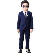 2019 Wedding Boy Costume Blazer Pants Shirt 3PCS Dress Suit for Boys Kids Formal Baby Boy Suit Wedding Children's Marriage Suits недорого