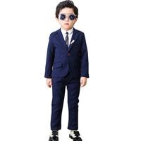 2019 Wedding Boy Costume Blazer Pants Shirt 3PCS Dress Suit for Boys Kids Formal Baby Boy Suit Wedding Children's Marriage Suits