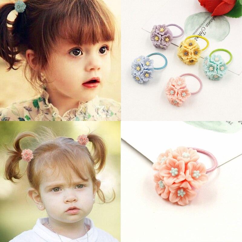 Aikelina 2017 New Lovely Acrylic Flowers Children Hair Ropess