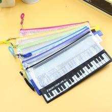 Kawaii Musical Piano Keyboard Pencil Case Stationery office Pen Bag School Supplies Music Pencils box Storage