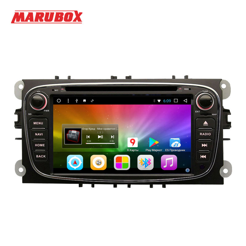 Marubox 2 Din Android 8.1 For Ford Focus 2 Mondeo 4 S-MAX Connect 2007-2013 Car Radio Navi GPS DVD Multimedia Player 7A600DT8 цена 2017