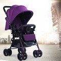 ADIL carrinho de bebê de alta qualidade, cinco cores quatro rodas único assento, carrinho de bebê dobrável
