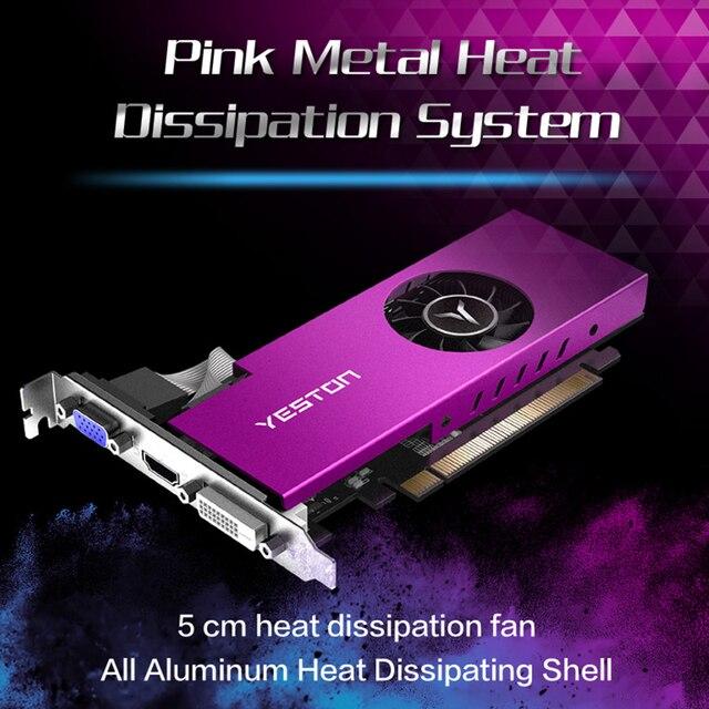 Yeston Radeon mini RX 550 GPU 4GB GDDR5 128bit Gaming Desktop computer PC Video Graphics Cards support VGA/DVI-D/HDMI PCI-E 3.0 2