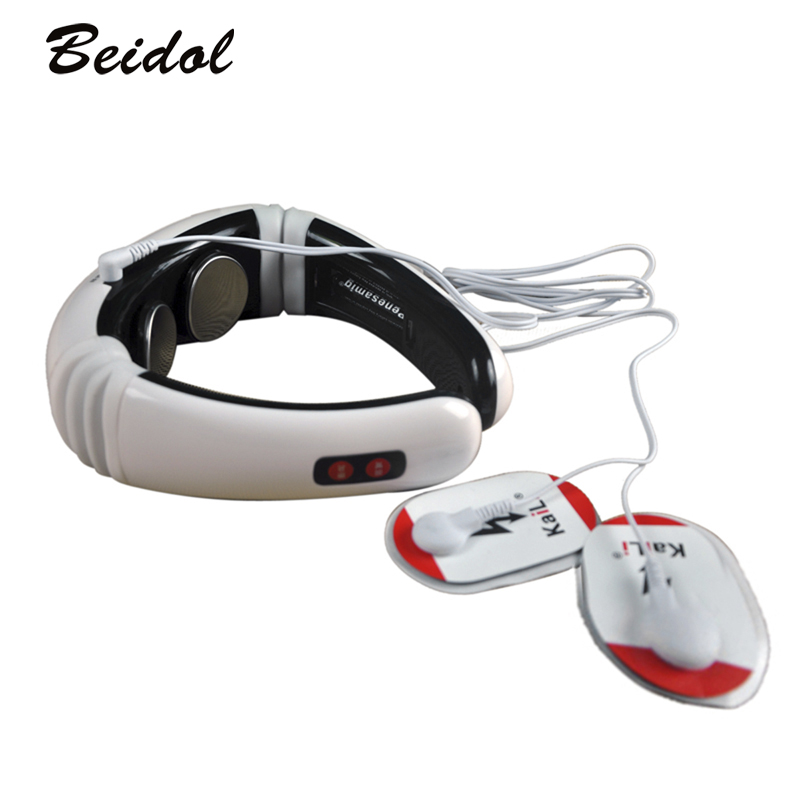Electric pulse Back and Neck massager.Cervical Vertebra Treatment Instrument.Acupuncture magnetic therapy.Neck pillow massager