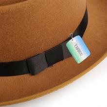 Various Colors Wool Fur Stylish Unisex Fedora Hats