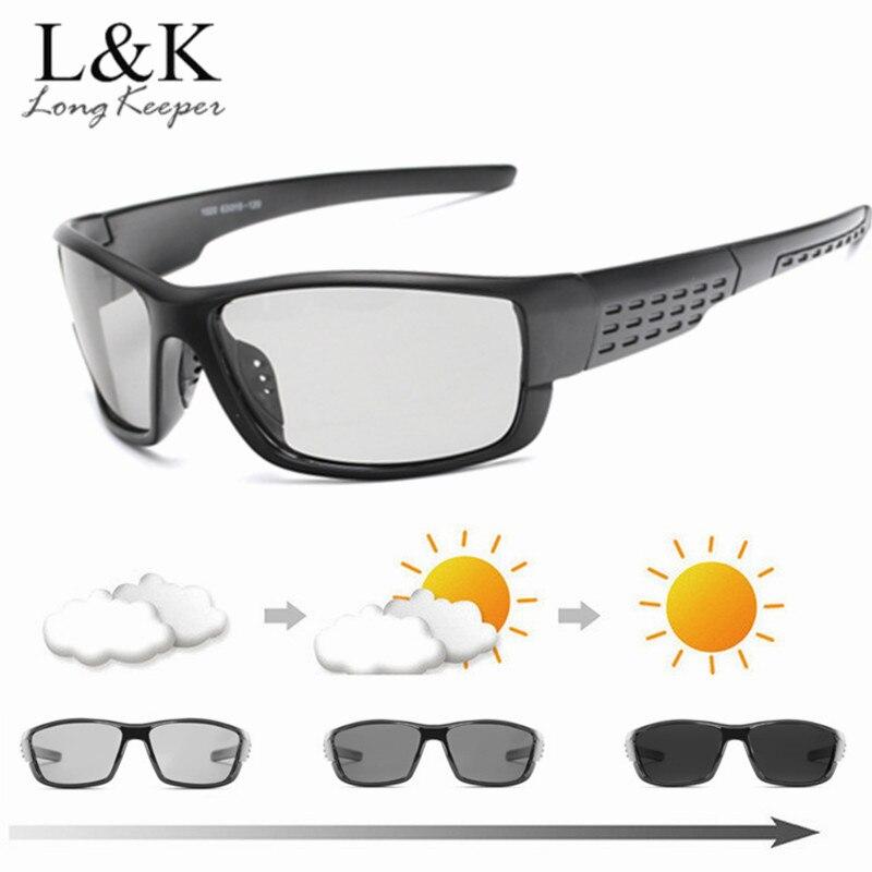 Praça Photochromic Polarizada Óculos De Sol Dos Homens de Condução Óculos  Camaleão Dia Masculino óculos de d46cf281f1