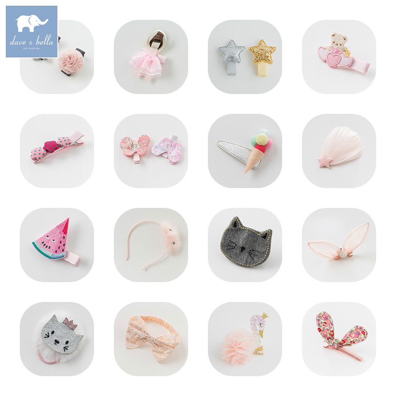 Davebella girls all kinds of headwear colorful barrettes girls cute headwear hot 6 colors 1pc girls lovely cat ear hairpin cute barrettes hairclips headwear hair accessories