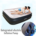 Intex 67738 two person double size integrated electric pump air bed airbed bedroom furniture pvc inflatable 152*203*43cm