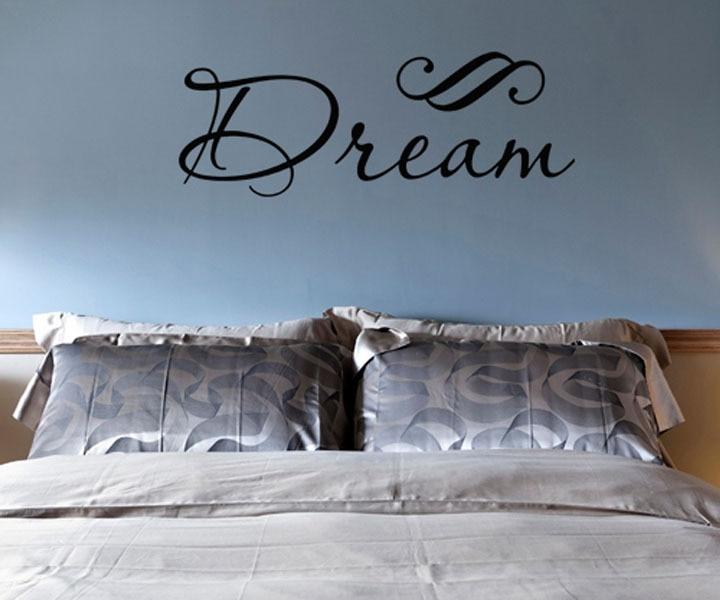 Slaapkamer Muur Quotes : Nieuwe droom vinyl muursticker interieur voor slaapkamer hoopvol