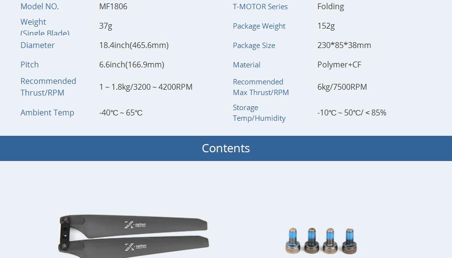 T motor novo lançado mf1806 polímero dobrável