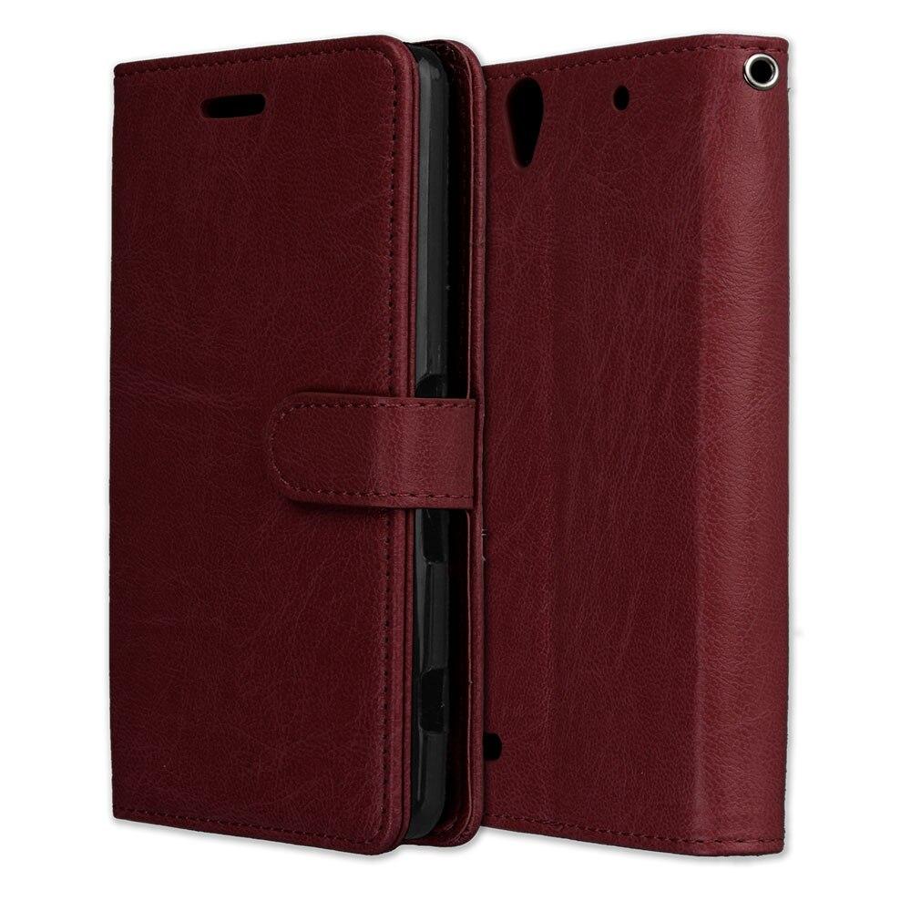 Luxury Flip leather Cases For Sony Xperia C4 Phone Case Wallet Card Flip Cover For Sony Xperia C4  E5306 E5303 E5353 Back Cover