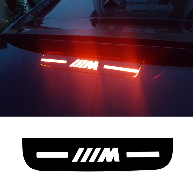 46da01fd0e73 Car Interior Brake Light Stickers M Logo Accessories For BMW E46 E90 E92  E93 F30 F35 F80 F31 F10 F01 F02 F03 F04 3 5 7 Series