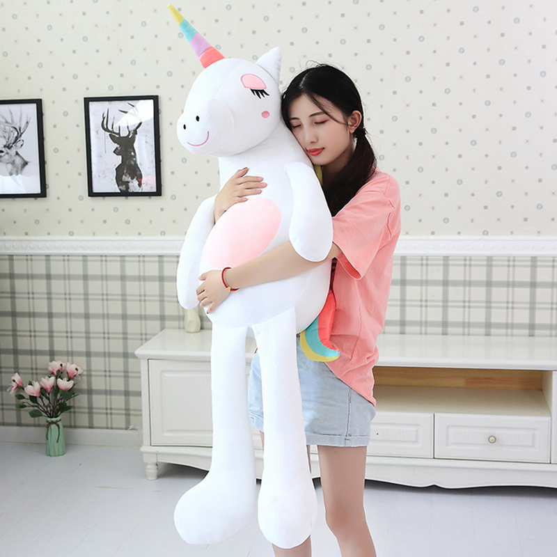 Fashion Large Pillow Cute Unicorn Doll Ins Plush Stuffed Animal Pillow Cartoon Cushion Warm Gift Toys Children Soft Toys in Stuffed Plush Animals from Toys Hobbies