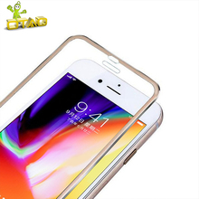 OTAO 3D Full Cover Tempered Glass Screen Protector For Apple iPhone 6 6S 7 8 Plus Aluminum Alloy 9H Glass Phone Film For iPhone