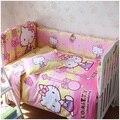 100% algodão Kid fundamento do bebê Set produto infantil dos desenhos animados padrão bumper folha de cama fronha para berço berço 6 tipo de cor 5 pcs